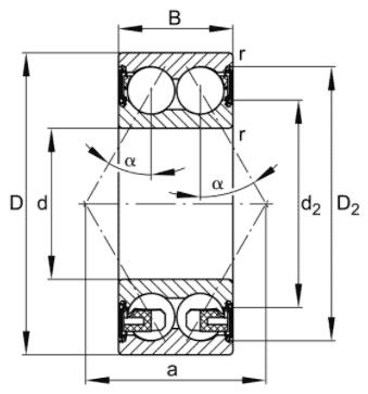 SKF hoekcontactkogellager
