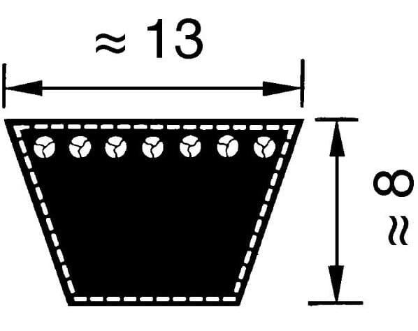 Optibelt A/13 v-snaar