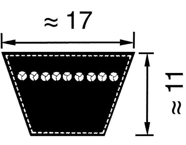 Optibelt B/17 v-snaar